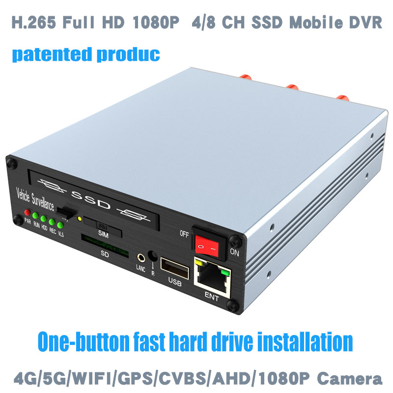 H.265 4K MDVR Full HD1080P 4Channel vehicle DVR patented product