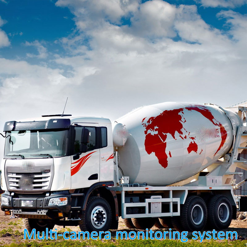 Multi-camera monitoring system for mixer truck Engineering vehicle safety vehicle video monitoring system